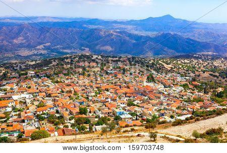 Pano Lefkara Village In Cyprus.