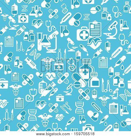 Medical Background In Blue