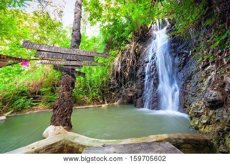 Green Valley Waterfalls In Cyprus.