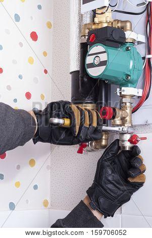 Installation Of Heating Boiler