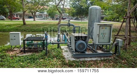 sewage pumping wasted water station in Thailand