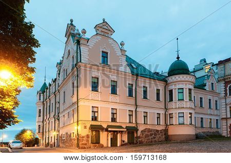 Old town, Merchant Vekrut's house in Vyborg at night