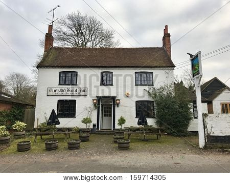 READING - DECEMBER 2: The Old Boot Inn on December 2, 2016 in Stanford Dingley, Reading, UK.