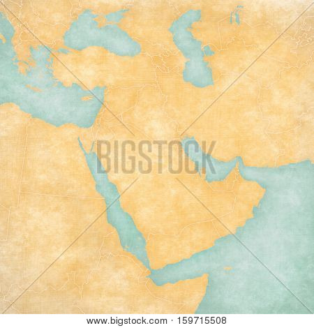Map Of Middle East - Blank Map