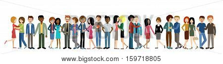 Gays and lesbian couple. Lgbt. Banner  vector illustration