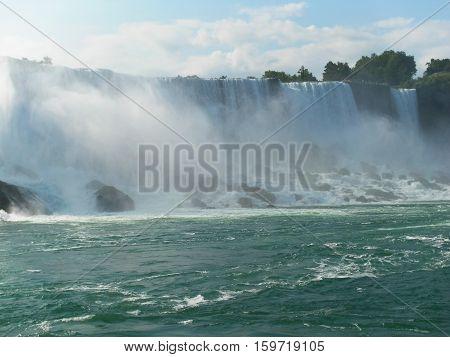 Living dangerously - Seagulls at Niagara Falls. summer trip to Niagara Falls