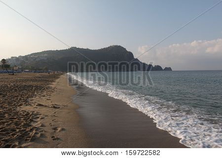 Alanya - the beach of Cleopatra / Alanya is one of most popular seaside resorts in Turkey
