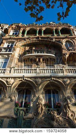 The Lavirotte building was designed by architect Jules Lavirotte and built between 1899 and 1901. It is one of the best-known surviving examples of Art Nouveau architecture in Paris.