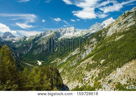 Valley in the Triglav National Park, Julian Alps, Slovenia