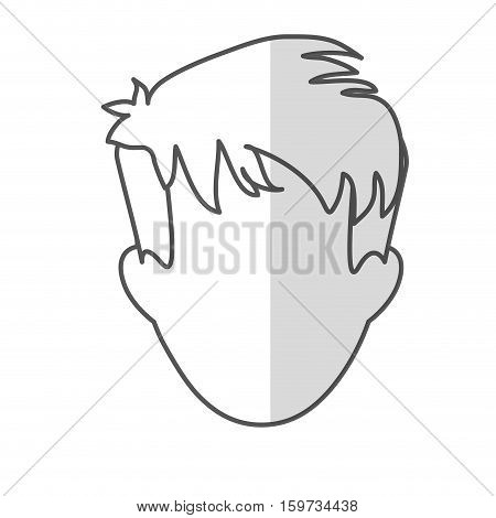 man with shaggy hair icon image vector illustration design