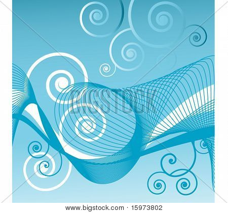 coils with netting blue vector