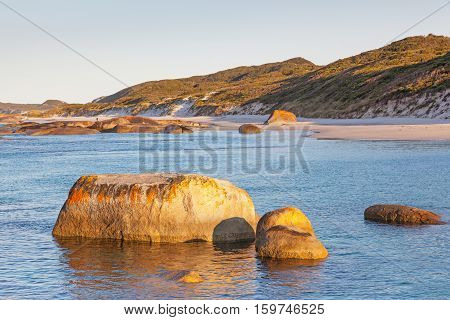 Early morning at Greens Pool in William Bay National Park near the town of Denmark, Western Australia.