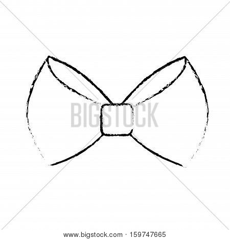 bow tie accessory icon over white background. hipster style design. vector illustration