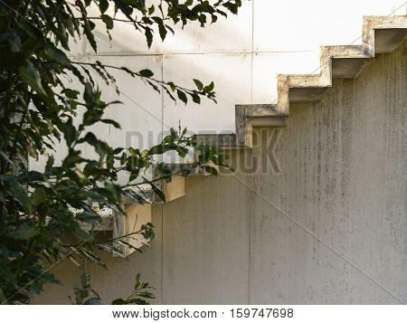light concrete stairs modrn design in outdoor