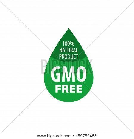 Template design logo gmo free. Vector illustration of icon