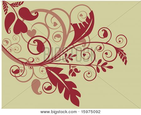 fun funky and trendy foliage design elements series