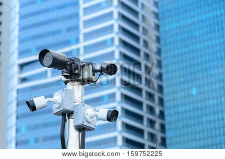 the security camera and the  urban video