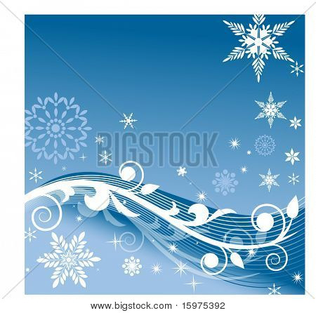 snow coil background with lines