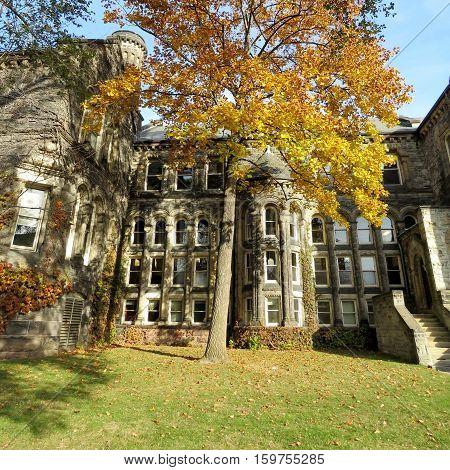 Toronto Canada - November 18 2016: Gerstein Centre at the University of Toronto.