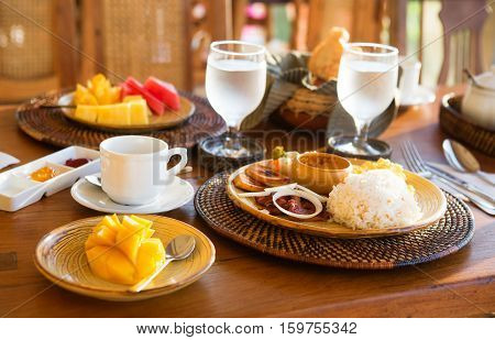 Traditional Philippino Breakfast With Garlic Rice