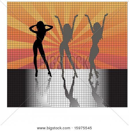 sexy females  dancing poster