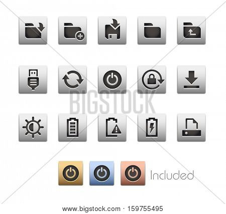 Interface Icons 3 / The vector file Includes 4 color versions in different layers.
