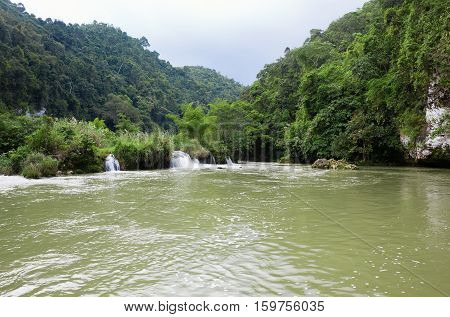 Waterfalls On The River Loboc, Bohol, Philippines