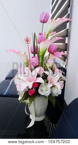 beautiful flowers in my office look it  breezy
