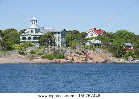 HANKO, FINLAND - JUNE 12, 2015: Coast of the Hanko Peninsula on a Sunny summer day. Finland