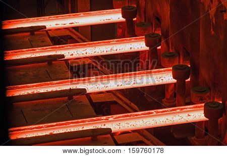 Iron and Steel Works. casting and steel rolling