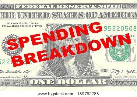 Spending Breakdown Concept