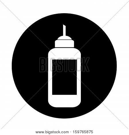 an images of ketchup bottle icon illustration design
