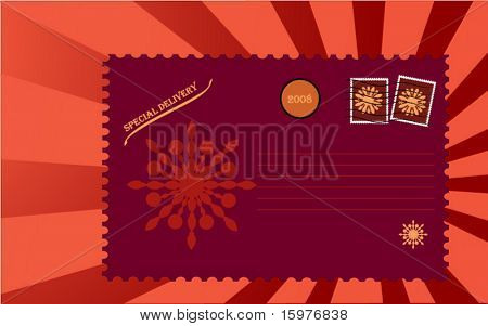 Special Delivery post card has 2008 in circle