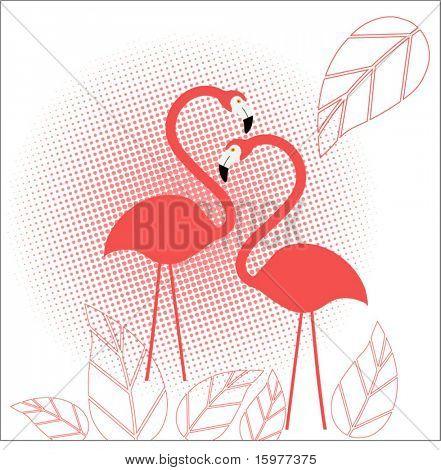 Flamingo com meio-tom e deixa