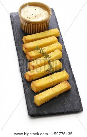 baked polenta with dipping sauce