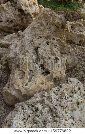 background of sandstone stone. sandstone rocks closeup