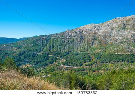 Hills of natural park Sierra de Gredos in Spain
