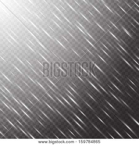 Electricity background. Winter lights. Sparkle vector. Sun flare. Illustration of a transparent backdrop.