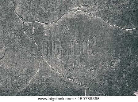 Grunge Concrete Cement Wall With Crack