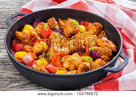Sweet And Sour Crispy Fried Pork Pieces