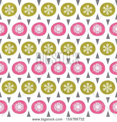 Christmas pattern in retro style. Vector illustration