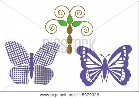 fun butterflies for your designs