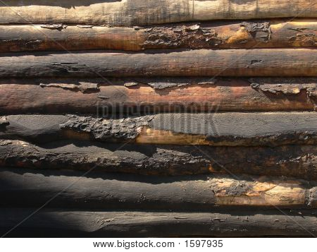 Old Wooden Barrier
