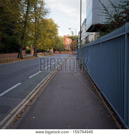 Oxford United Kingdom October 23 2016: South Parks Road Near the Zoology Department Oxford University.