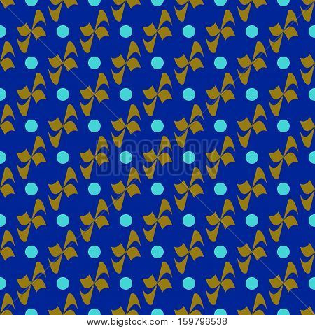 Flower polka dot geometric seamless pattern. Fashion graphic background design. Modern stylish abstract colorful texture. Template for prints textiles wrapping wallpaper website. Stock VECTOR