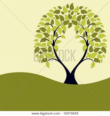 tree landscape with copysapce