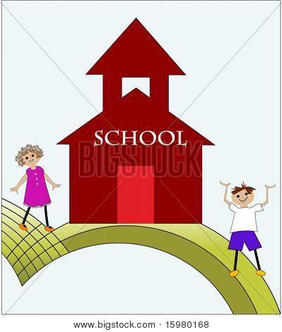 back to school cartoon kids