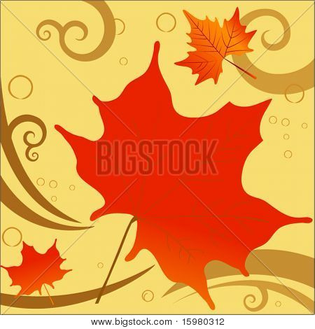 fall leaves with coils for wind