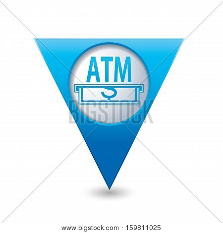 ATM cashpoint icon on the map pointer. Vector illustration