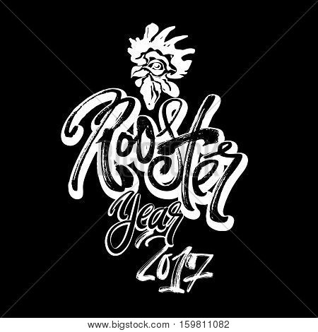 Chinese 2017 New Year Rooster Symbol.
